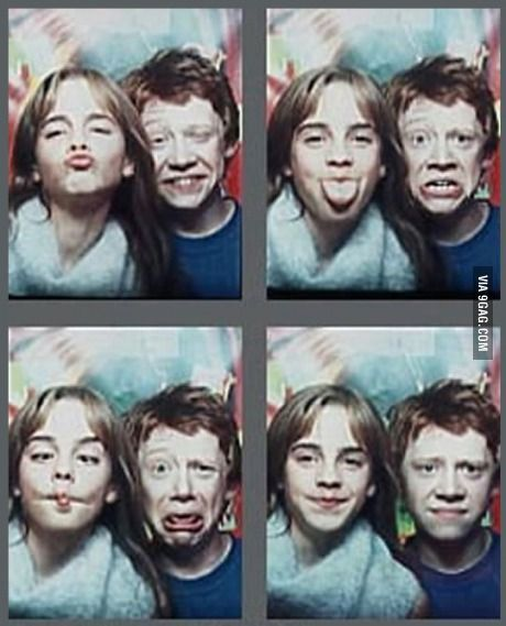Harry Potter Emma Watson and Rupert Grint