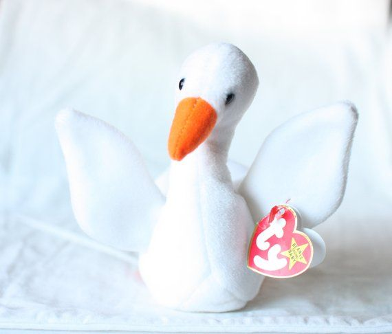 TY GRACIE the SWAN BEANIE BABY MINT with MINT TAG