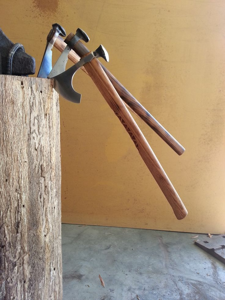 rashystreakers - Some of my recent Rail Spike Tomahawks. http://rashystreakers.tumblr.com/post/63744442594/some-of-my-recent-rail-spike-tomahawks-for-sale