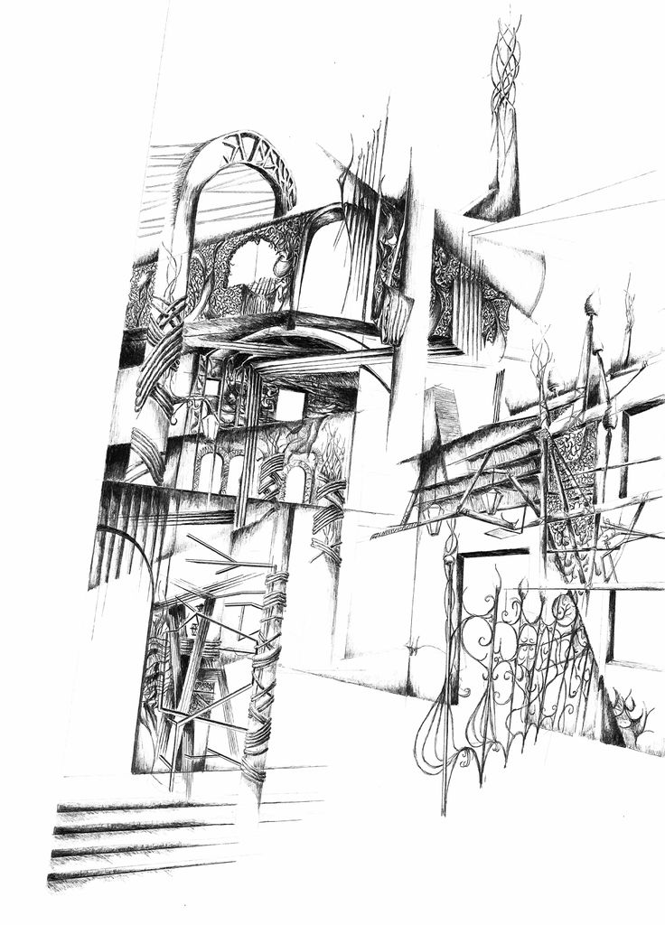 Artisan village - sketch perspective