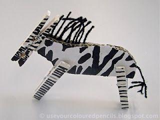 Use Your Coloured Pencils: Zebras