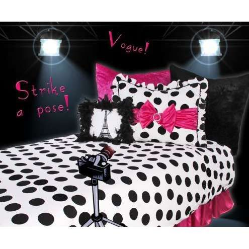 Image Detail For  . Bedding Ensemble And Feel Glamorous Doing It Shocking  Pink Against