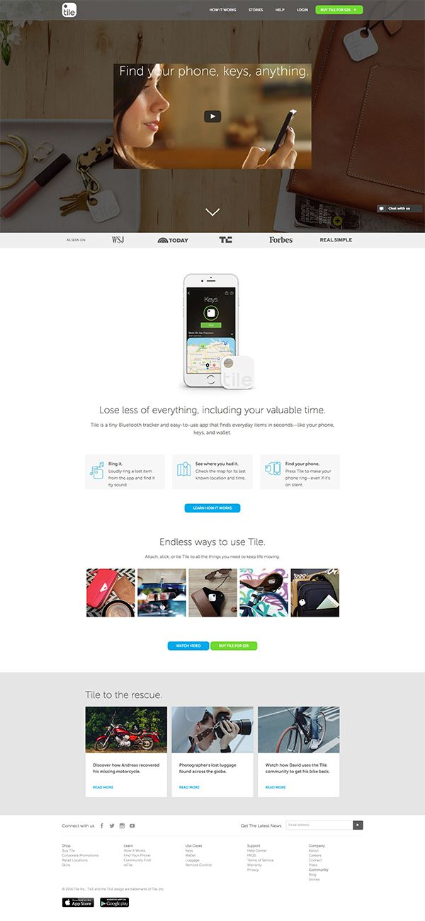 Lose less of everything | Landing Page Design Inspiration