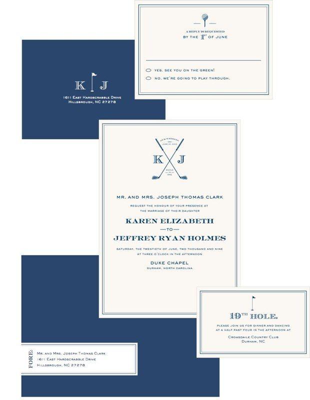 Golf Invites And Rsvp Mr Mrs In 2018 Pinterest Wedding Invitations