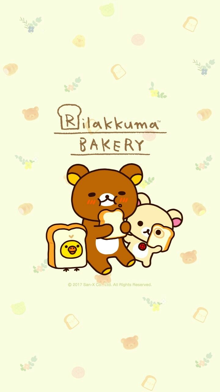 Wallpaper iphone san x - Rilakkuma Line Wallpaper