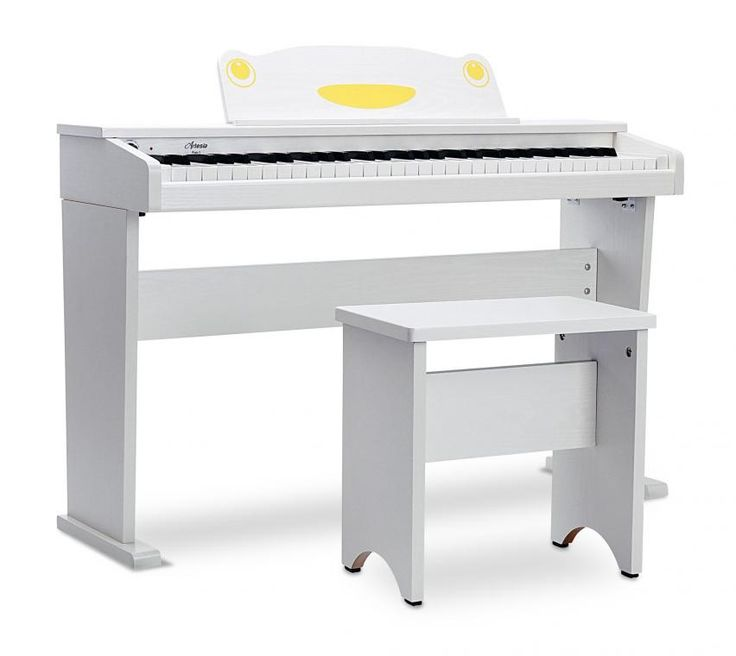 Artesia FUN-1 Keyboard mit 61 Tasten im Digitalpiano-Design, weiß matt