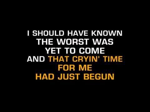Merle Haggard - Today I Started Loving You Again (Karaoke) - YouTube