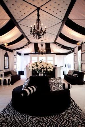 LOVE. Black and White. So classy.