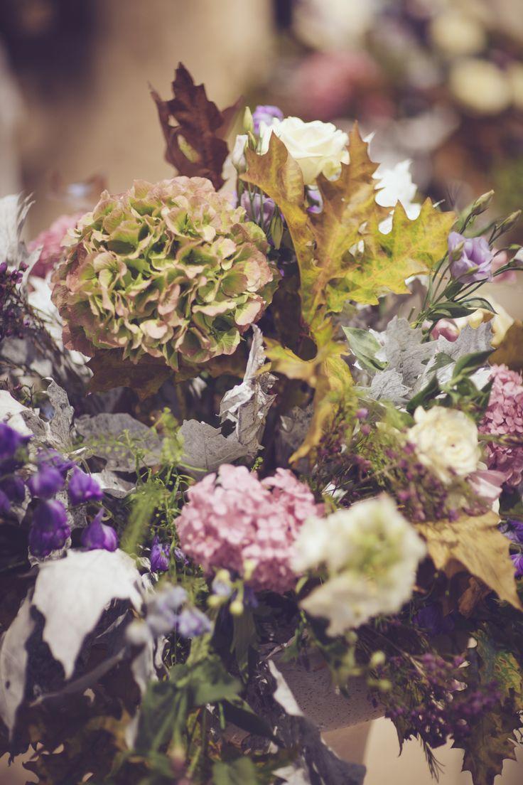 Autumnal floral decorations...
