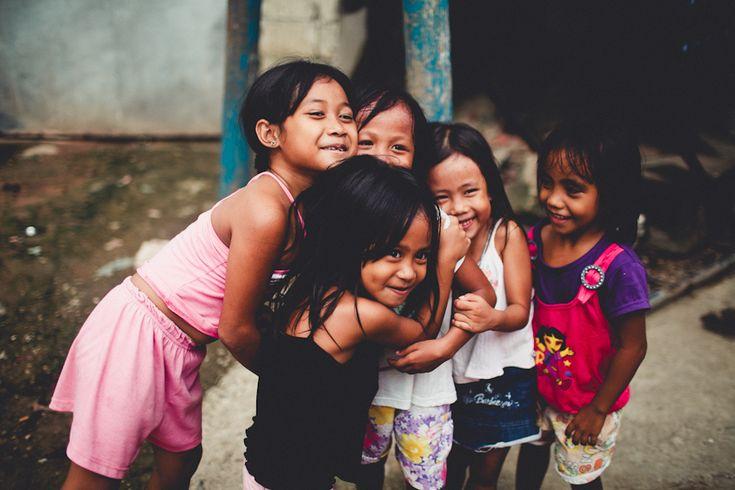 Coron, Palawan -  Philippines. Happy children enjoying the play...