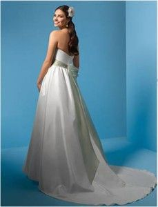 Nowa, Unikalna, Amerykańska Suknia Ślubna Firmy Alfred Angelo, Styl: 2085, Rozmiar 12 (USA), Kolor: Diamond White (Biały Diament)/Butter (Masło)
