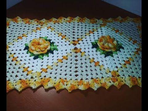 Toalha/ Centro/Trilho/ Caminho de Mesa em Crochê em Ponto Abacaxi - 1/6 - Com Cristina Coelho Alves - YouTube