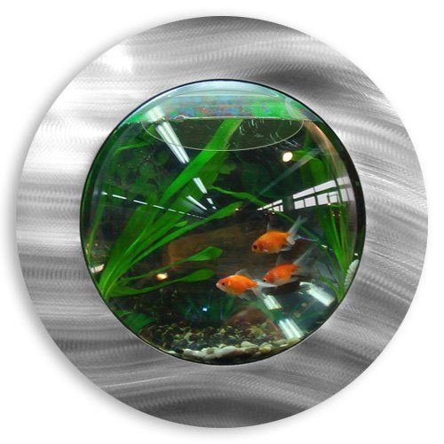 "Introducing Mirrored Fish Bubbles! These hip and trendy fish tanks can be hung virtually anywhere! They require no pump or filtration! You can decorate your Fish Bubble with any aquarium accessories and keep goldfish, bettas, African Dwarf frogs or any other ""easy-to-maintain"" freshwater fish in a cool happy home on a wall! Buy 3 or 4 tanks and you can create wall patterns and amazing conversation pieces in your home or office. Fish Bubbles include a Pre drilled aquarium ready to ha..."