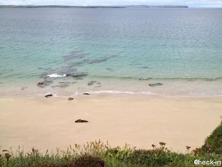La spiaggia di Peedie Sands nel Caithness, #scozia