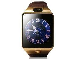 Luxusné a štýlové inteligentné hodinky v zlatej farbe