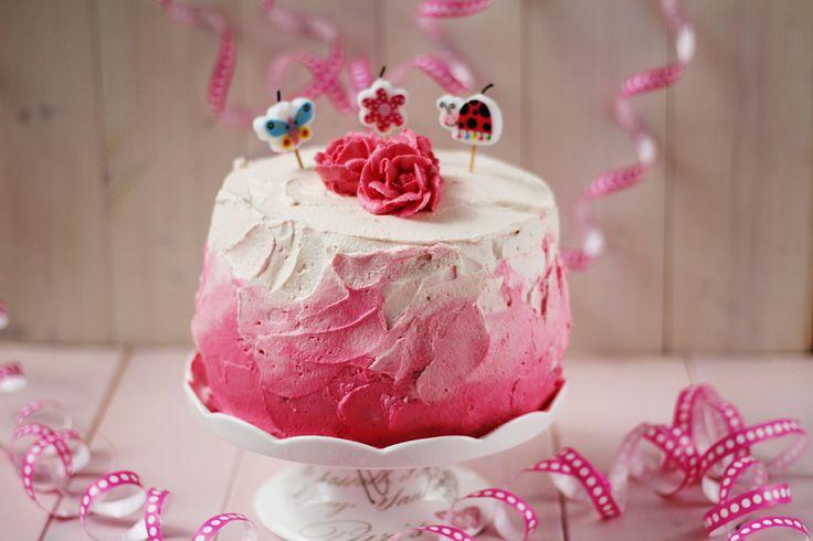 BAKE - Różowy tort urodzinowy dla małej księżniczki...
