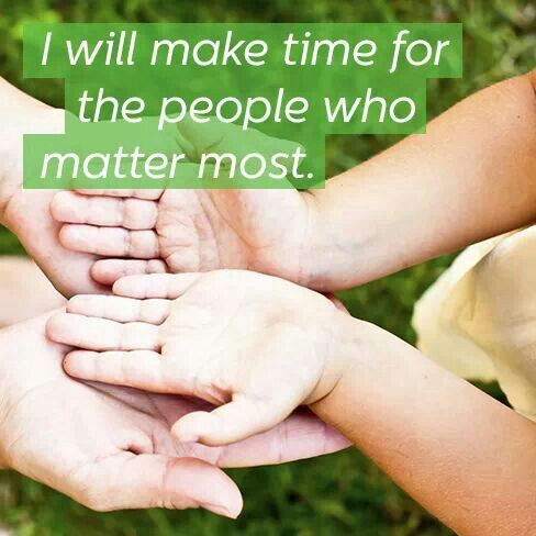 I will make time.....2014 New Year's resolution