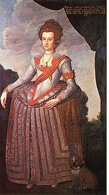 Anne Catherine of Brandenburg, lived 1575–1612, queen-consort of Denmark and Norway from 1597 to 1612 as the first spouse of King Christian IV of Denmark. Daughter of Joachim Frederick, Margrave of Brandenburg and his first wife Catherine of Brandenburg-Küstrin. 3X maternal great-grandmother of Catherine the Great.
