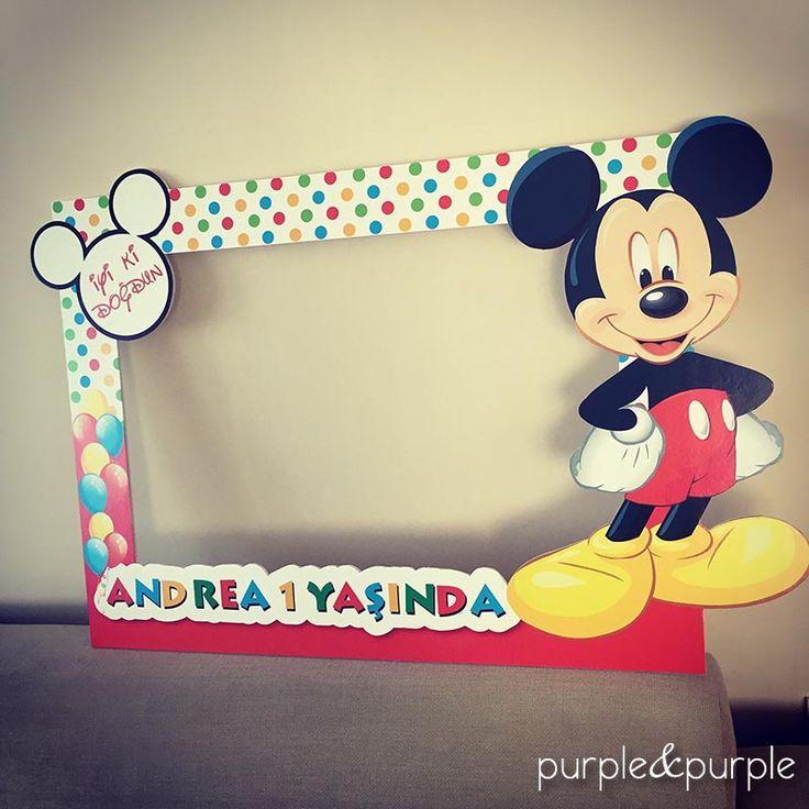 Doğum Günü Fotoğraf Çerçevesi Mickey Mouse ve Arkadaşları Poster | Doğum Günü Parti Çerçevesi | Ayaklı Pano | 1 yaş doğum günü posteri | Mickey Mouse Club House Birthday | Birthday Backdrop | 1st Birthday | Photo Booth