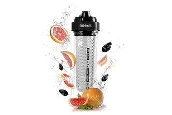 Bouteille filtrante 600 cr/bk bouteille avec infuseur de fruits / herbes / thé de 600 ml sans bpa compatible avec le blender bl3 Duronic