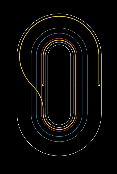 Velo Poster by Graphical House - track markings of a #Velodrome #cycling