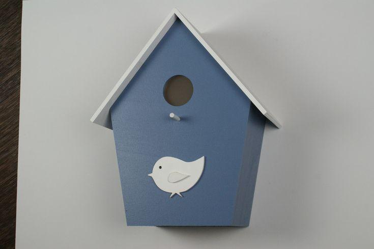 Wandlampen - Kinderzimmerlampe Vogelhauslampe Taubenblau - ein Designerstück von Vogelhauslampe bei DaWanda