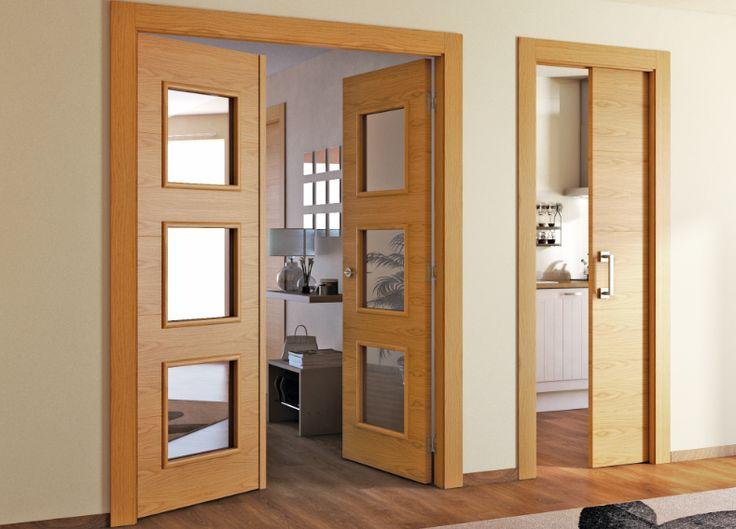 Para dar un toque personal a la estancia pero sin romper la unidad decorativa, elige puertas coordinadas pero distintas, quedarán estupendas.