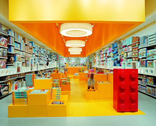 Lego, Westfield Stratford London - an archive shot of the work of into lighting at the Westfield Lego store