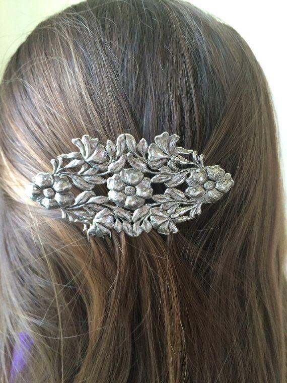 Floral haar kam Vintage Flower Hair kam bos haar accessoire bruids haar kam Boheemse Boho Chic huwelijksgeschenk voor haar