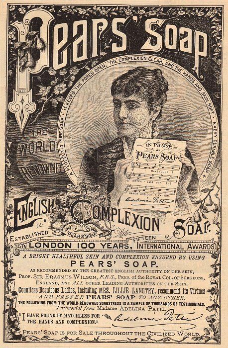 Beautiful 1887 Pear's Soap Ad - The Graphics Fairy