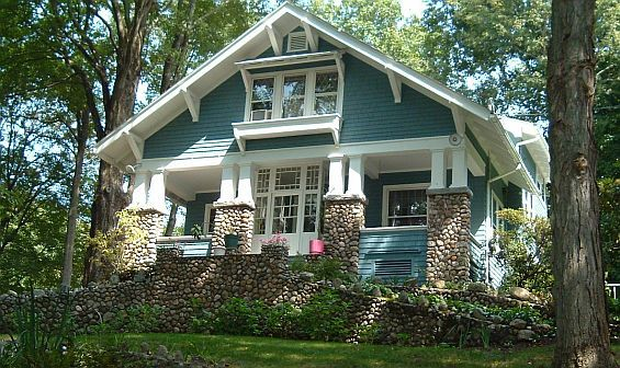 The exterior shows a pleasing Craftsman-style bungalow with a large porch and shed dormer. Description from pinterest.com. I searched for this on bing.com/images