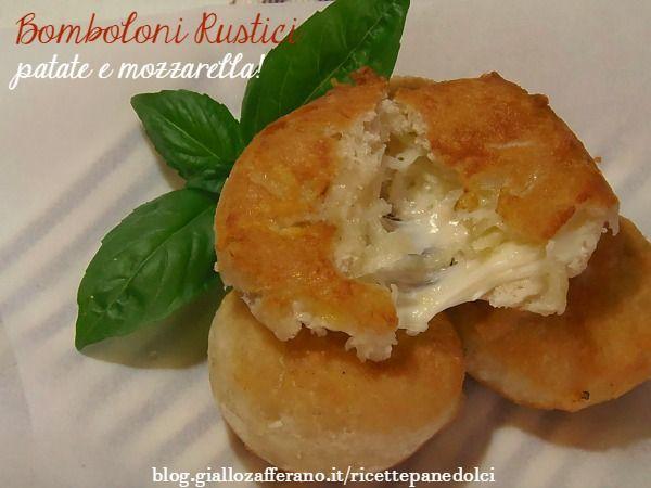 Bomboloni+rustici+patate+e+mozzarella+sia+fritti+che+al+forno