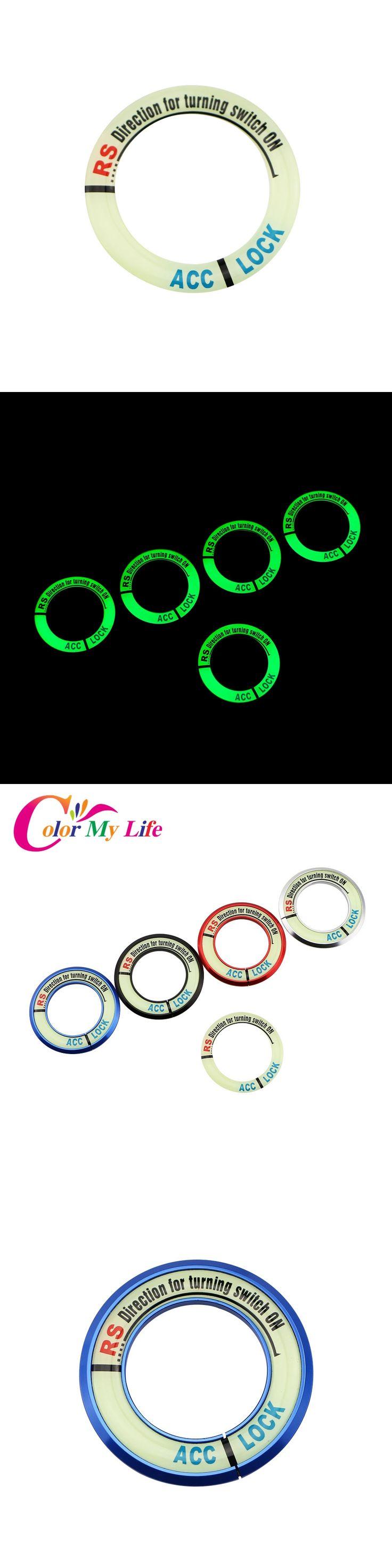 Color My Life Car Ignition Switch Decoration Keyhole Cover Trim For Chevrolet Cruze For Opel Mokka ASTRA J Insignia Sport Tourer