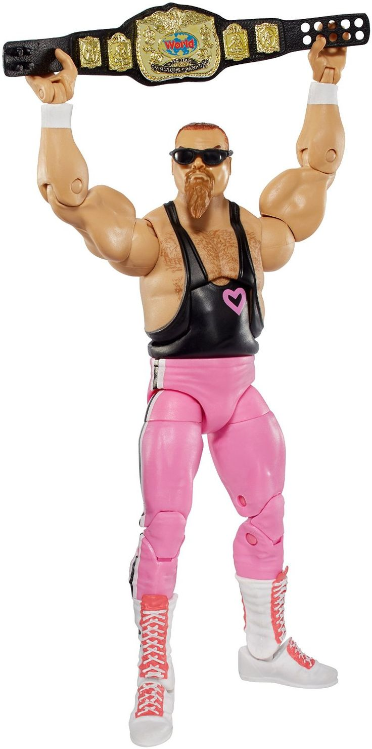 WWE Elite Flashback Hart Foundation Jim Neidhart Figure