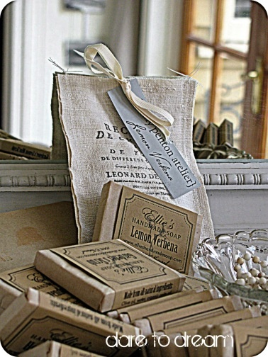 love the linen bag: Packaging Ect, Package Design, Shabby Rustic Cottage Style, French Country, Linen Bag, Vintage Inspiration