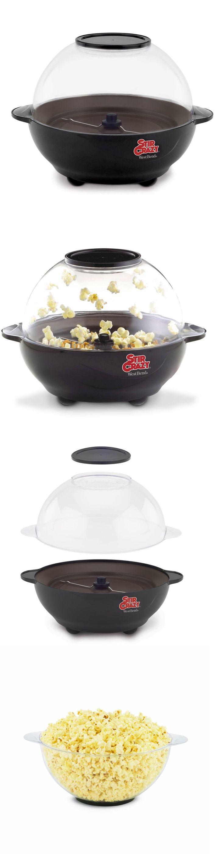Popcorn Poppers 66752: Popcorn Machine Hot Pop Movie Red Stir Maker Air Corn New West Bend Popper Crazy -> BUY IT NOW ONLY: $34.92 on eBay!