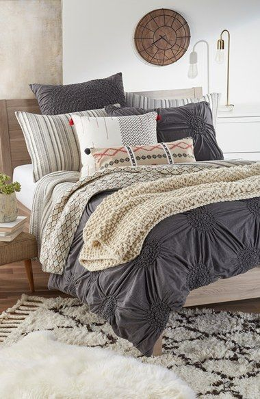 Adoring this cozy and cute bedroom look that is part of the Nordstrom Anniversary Sale! It will be the perfect update to the home.