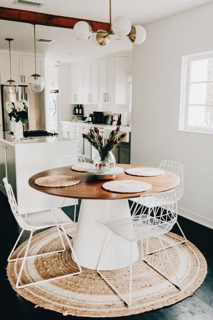 Contemporary White Oval Kitchen Table Dining Room Small