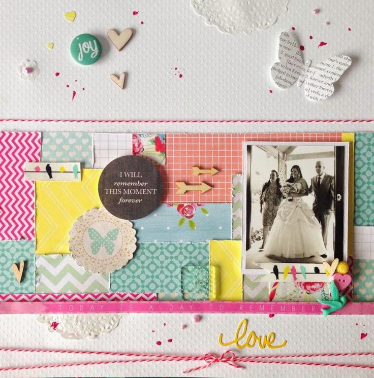 Scrapbook layout as published in Scrapbooking Memories