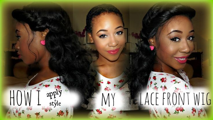 How To Apply A Lace Front Wig!! NO GLUE + Easy Princess Inspired Style ♥...