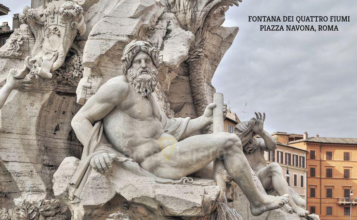 Fontana dei Quattro Fiumi, Piazza Navona, Roma http://arteviajero.com/