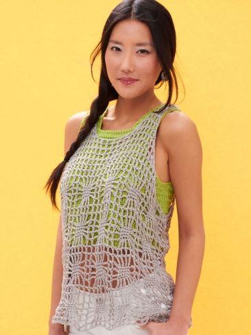Light Layers Tank | Yarn | Free Knitting Patterns | Crochet Patterns | Yarnspirations