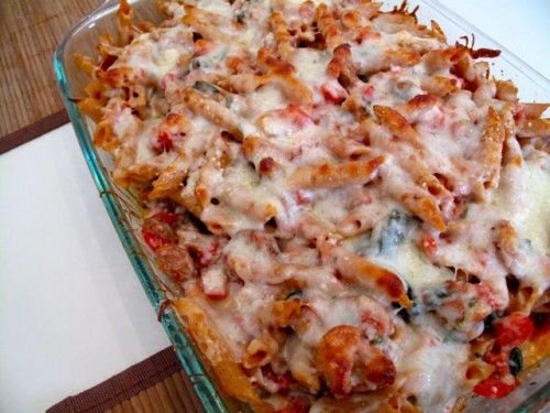 Baked Pasta with Chicken Sausage | Chicken Dishes | Pinterest