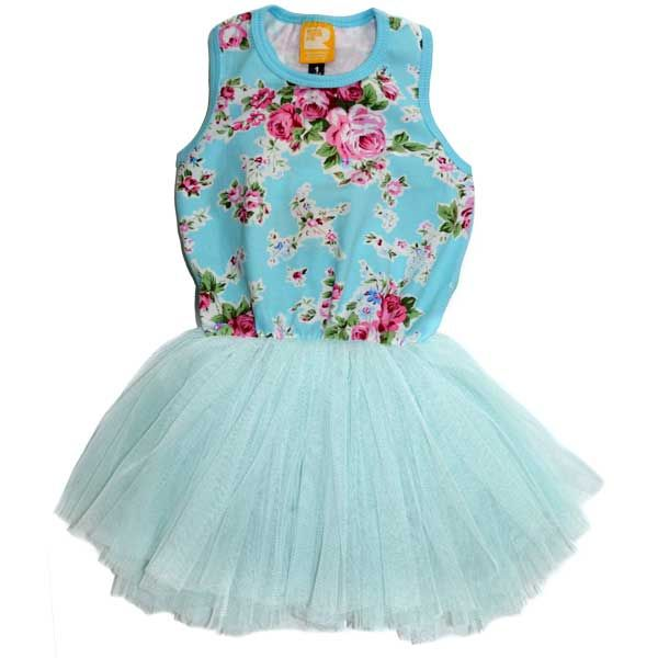 Circus Singlet Dress Blue Floral | Rock Your Baby | www.rockyourbaby.com