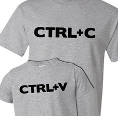 Funny take on ctrl c and ctrl v copy paste matching por zoeysattic