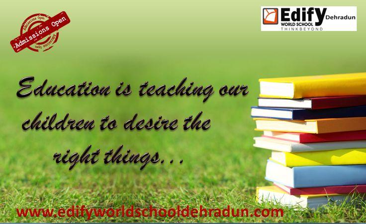 Admission is going on in Edify World School Dehradun, the best CBSE Schools in Dehradun. Explore more at www.edifyworldschooldehradun.com now.