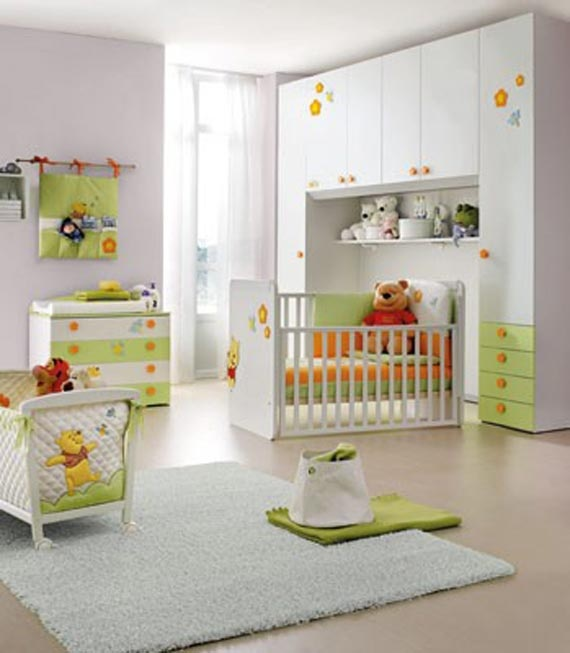 Convertible Baby Bedroom Ideas with Winnie the Pooh Theme