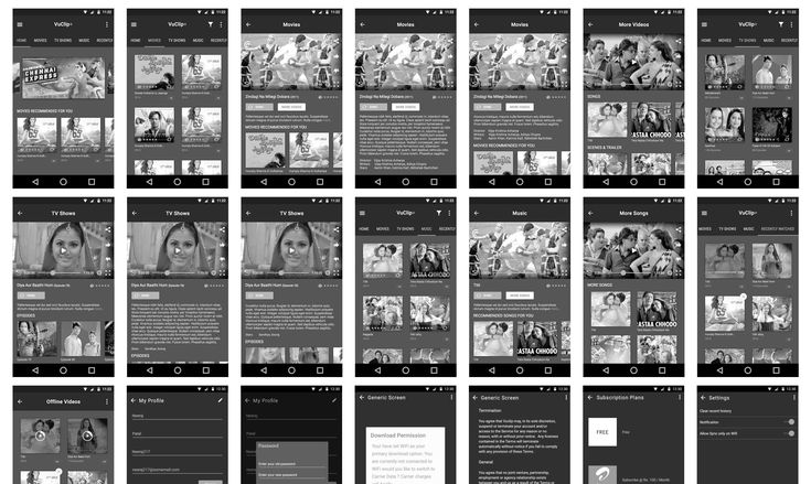 Vuclip andriod wireframe. Video App Development | CognitiveClouds Portfolio