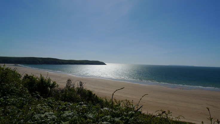 Woolacombe Bay, first bit of sunshine for months. No surf but unbroken blue skies and warmth.