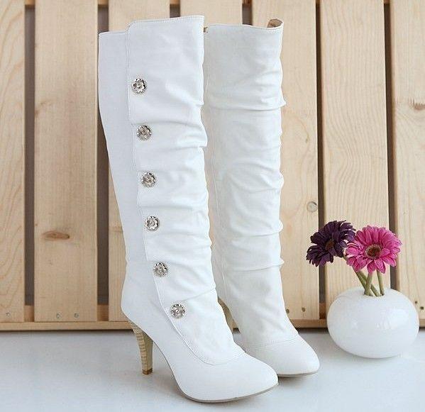 cute boots, winter wedding